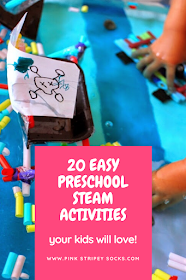 20 Super Easy and Low Prep Preschool STEM (Science, Technology, Engineering, and Math)Activities perfect to do at home with kids