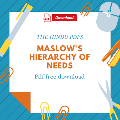 Maslow's Hierarchy Of Needs Pdf Free Download