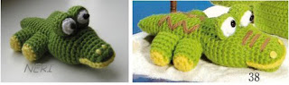 Крокодил амигуруми для начинающих