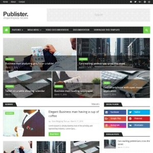 Publister free blogger template