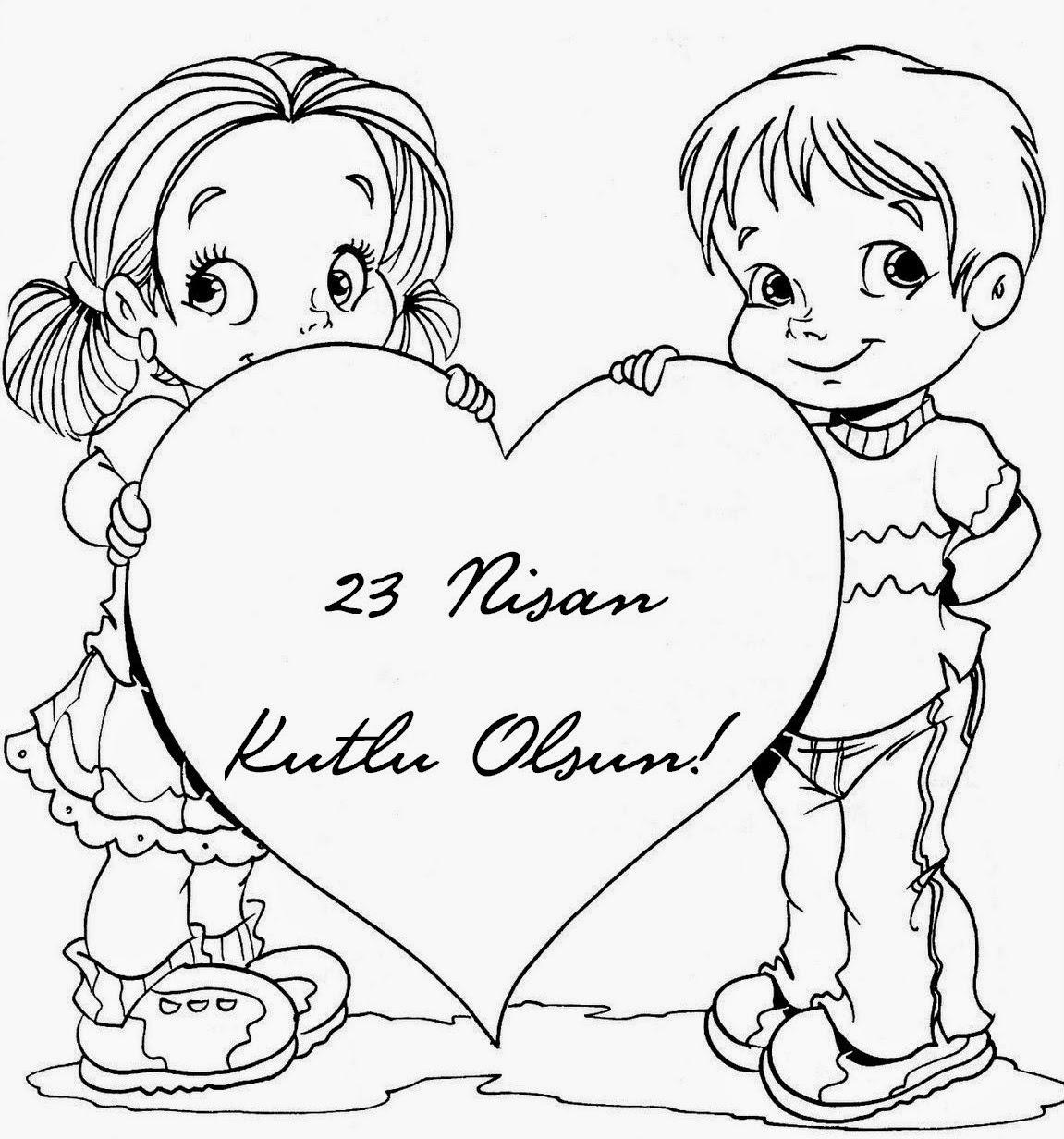 23 Nisan Boyama Sayfalari Dersteknik Com