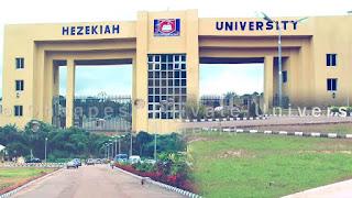 Hezekiah University JUPEB Admission Form 2020/2021