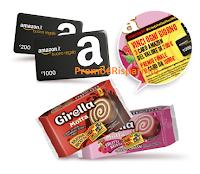 Logo Concorso ''Con Girella vinci il cavolo che vuoi'': buoni Amazon da 200€ e 1000€
