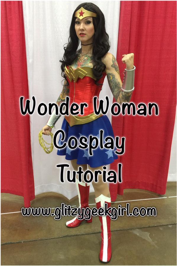 OMGLITZY  Tutorial  Wonder Woman Cosplay Costume 3b6e9efc019