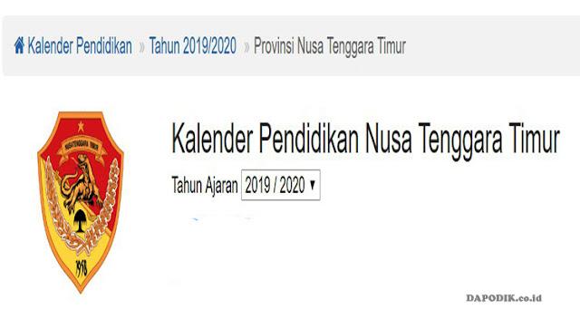 Kalender Pendidikan SD, SMP, SMA, dan SMK Provinsi Nusa Tenggara Timur (NTT) Tahun Pelajaran 2019/ 2020