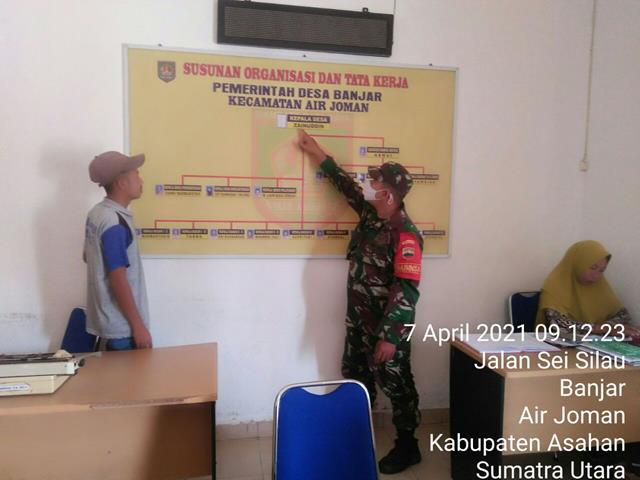 Pul Data Ter Dilaksanakan Personel Jajaran Kodim 0208/Asahan Sekaligus Laksanakan Komsos Bersama Perangkat Desa