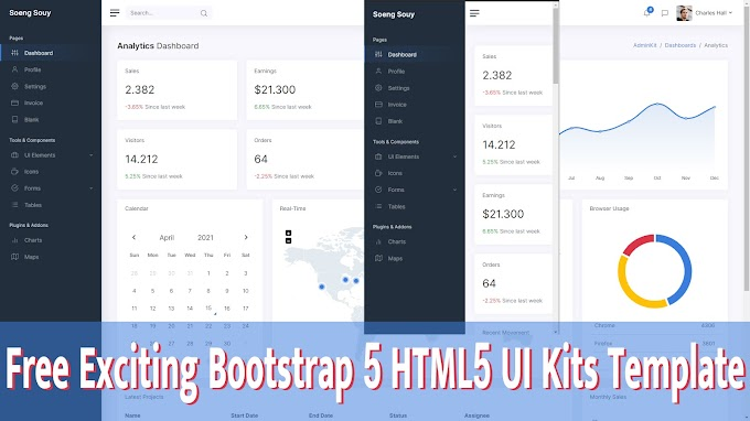 Free Exciting Bootstrap 5 HTML5 UI Kits Template