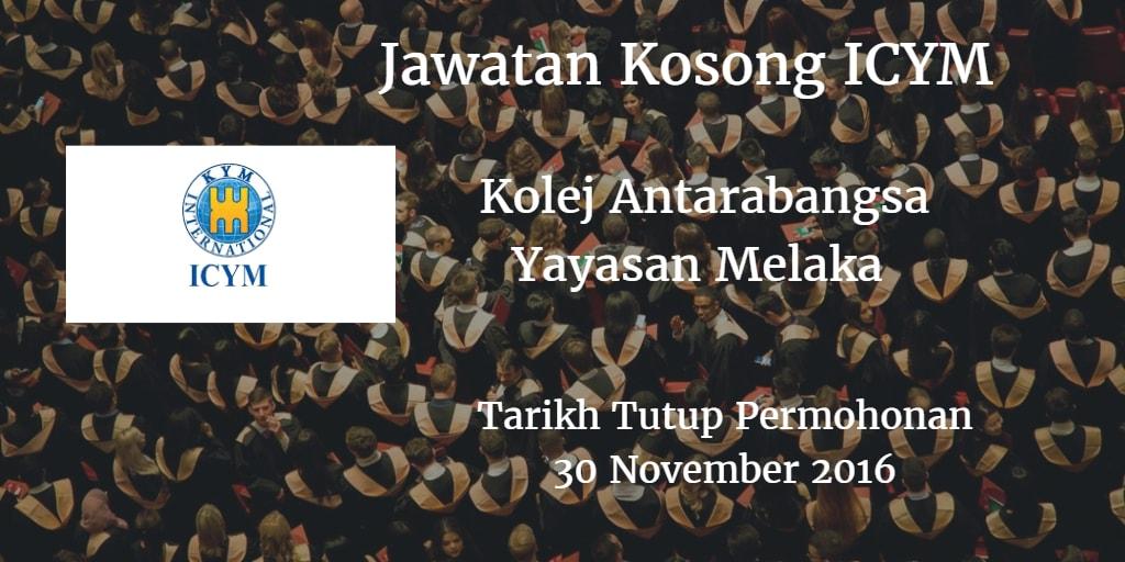 Jawatan Kosong ICYM 30 November 2016