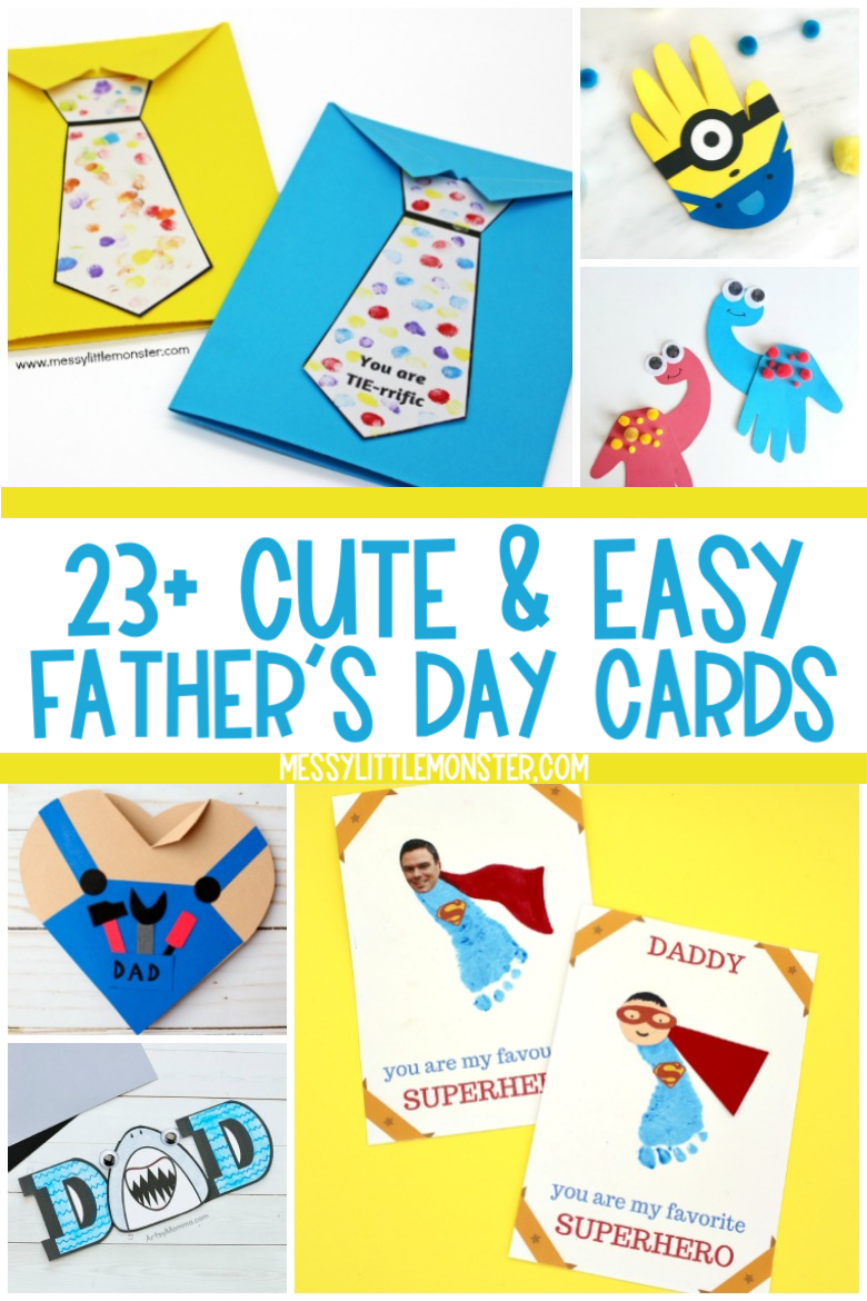 Cute and Easy Father's Day Card Crafts for Kids