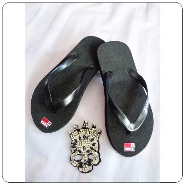 grosirsandalmurah.org - sandal pria - Sandal AB Polos Hitam