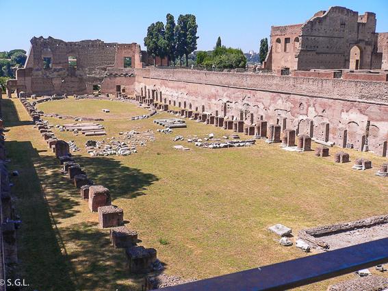 Hipodromo de Domiciano en el Palatino. Roma