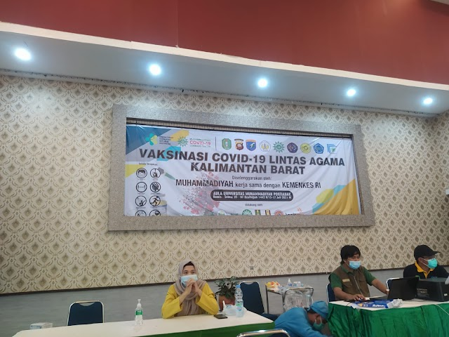 3849 Peserta Vaksin Lintas Agama Muhammadiyah Kalbar, Rekor!