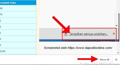Tampilkan unduhan atau hasil download prefill dapodik