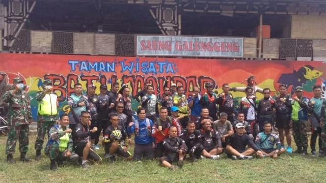 Dandim 0612/Tasikmalaya Goes Sampai ke Geopark Taman Batu Ampar Galunggung