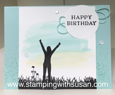 Stampin' Up! Enjoy Life, Aqua Painter, Perennial Birthday