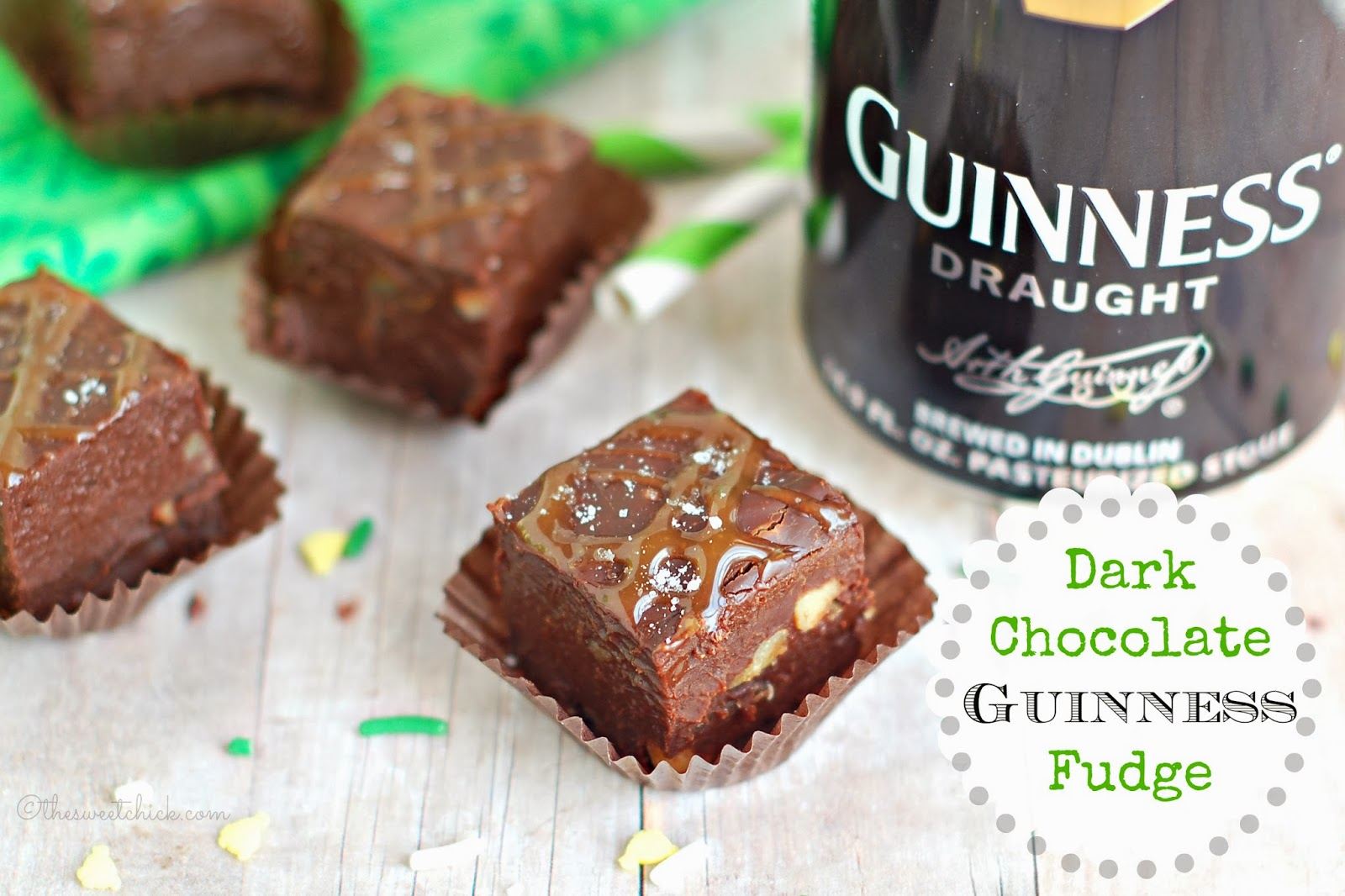 Dark Chocolate Guinness Fudge by The Sweet Chick
