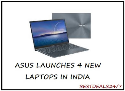 Asus launches 4 new laptops in India