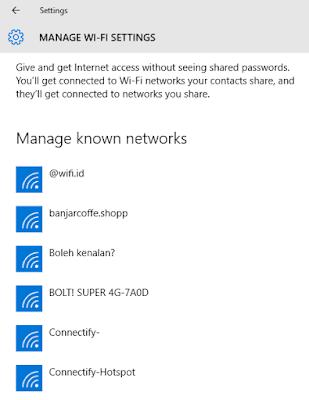 cara menghapus wifi di laptop