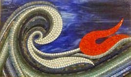 blue wave mosaic