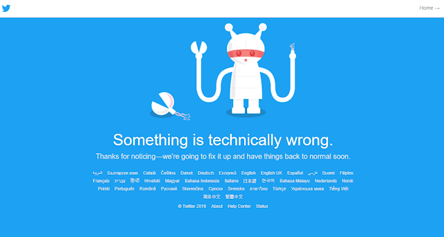 Twitter is not working on 12 July 2019 at 12:00