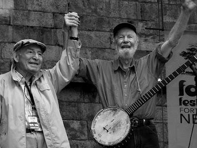 newport folk festival - George Wein & Pete Seeger 2009