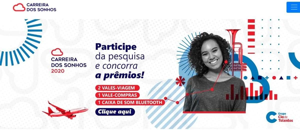 Promoção Carreira dos Sonhos 2020 Pesquisa - Concorra Prêmios