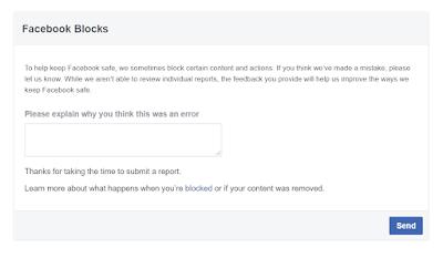 Facebook Blocks Let Us Know