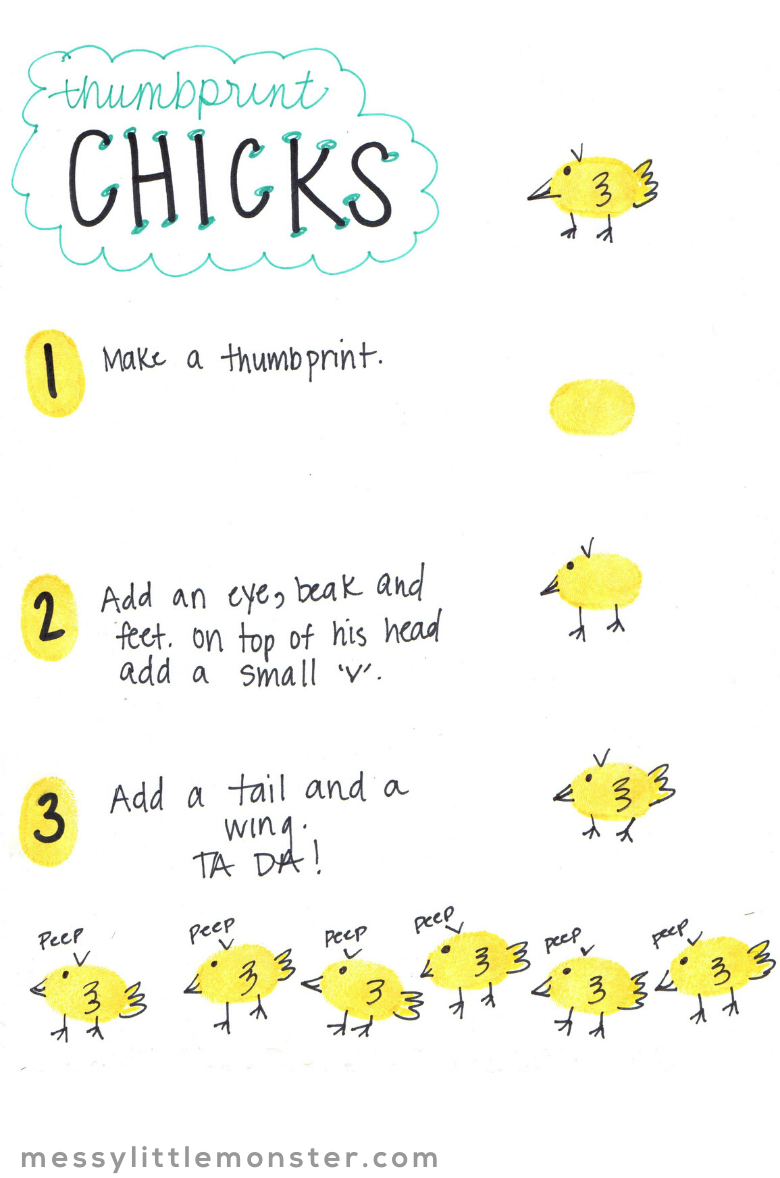 chick thumbprint art