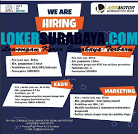 We Are Hiring at Asri Motor Surabaya September 2020