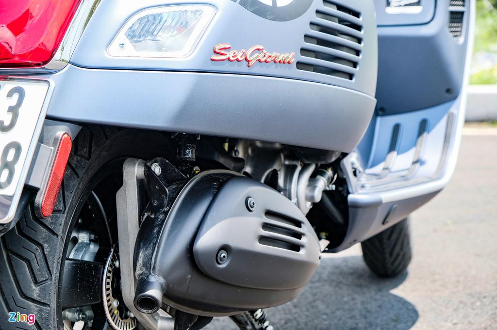 Chi tiết Vespa Sei Giorni II - động cơ HPE 278 cc, giá 199 triệu đồng