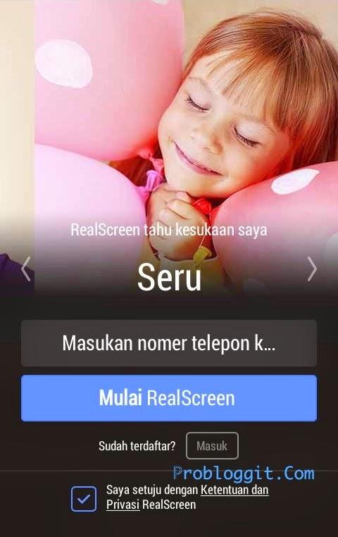 Real Screen - Aplikasi Penghasil Pulsa Gratis di Android Terbaru 2015