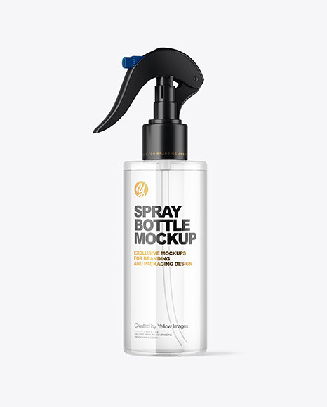 Download Clear Spray Bottle Mockup PSD Mockup Templates