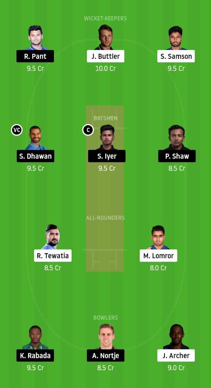 IPL 2020: Delhi Eyes Top Spot In Points Table - Rajasthan Royals vs Delhi Capitals Dream11 Prediction