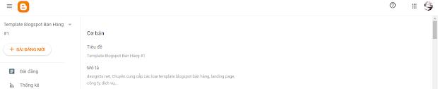 Bật mô tả tìm kiếm cho blogspot