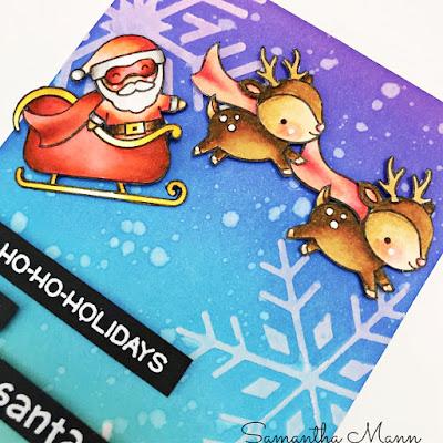 Secret Santa Card by Samantha Mann, Get Cracking on Chrismtas, Cards, card making, Christmas, Distress Inks, Stencil, giveaway, #lawnfawn #getcrackingonchristmas #cardmaking #christmas #christmascard