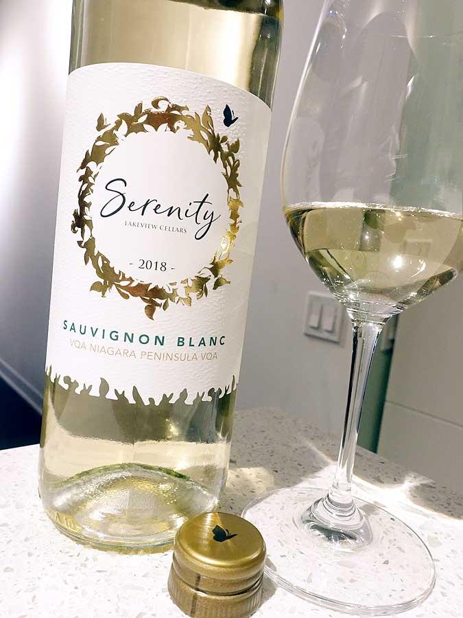 Lakeview Cellars Serenity Sauvignon Blanc 2018 (87 pts)