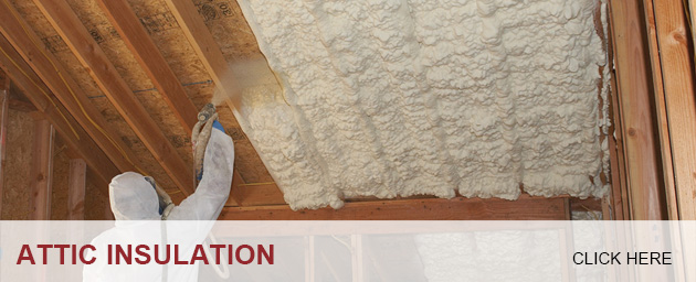 Insulation Installer applying Spray Foam Insulation to an Attic; Foam Insealators of Maryland and Virginia