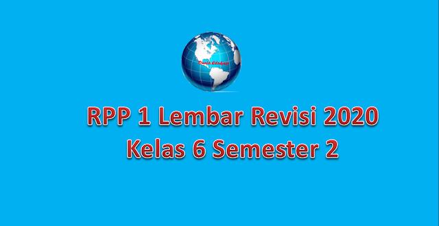 RPP 1 Lembar Kelas 6