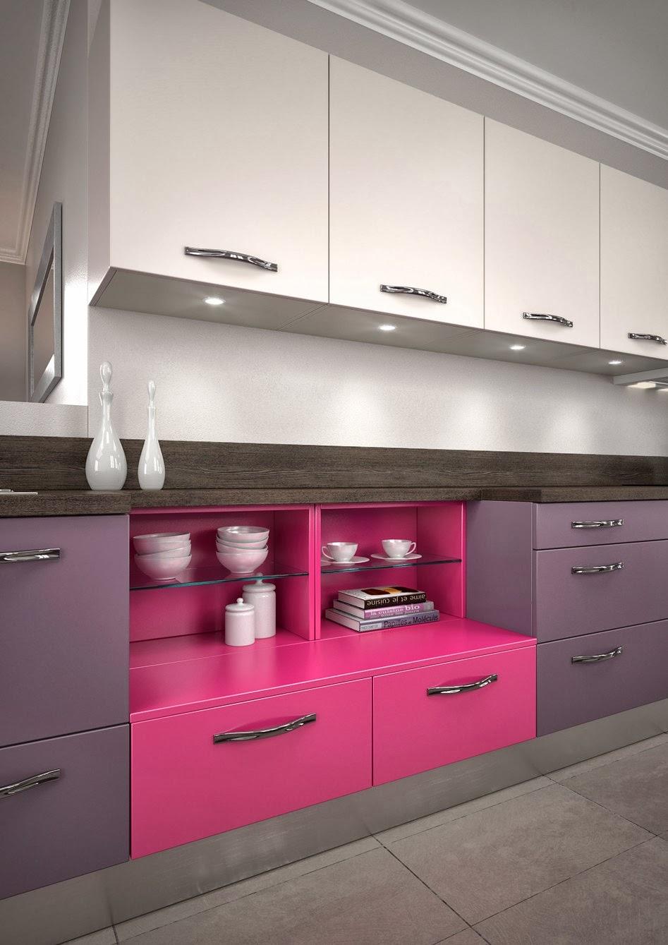 Colores que adornan la cocina: imaginación y algo de buen gusto ...