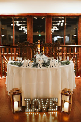 wedding table decor and props