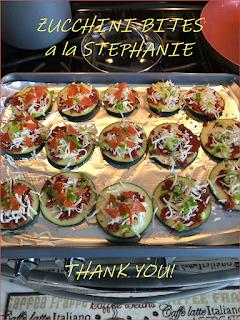 Zucchini Bites a la Stephanie