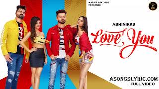 Love you - Abhinikks Song Lyrics Mp3 Download