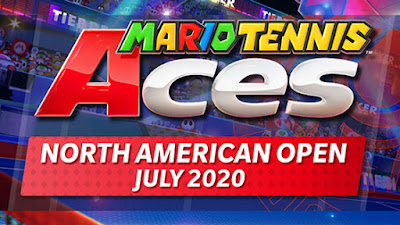 Mario Tennis Aces North American Open July 2020 logo