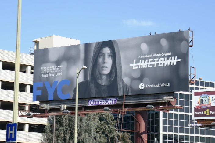Jessica Biel Limetown 2019 FYC billboard