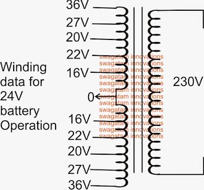 Multilevel 5 Step Cascaded Sine Wave Transformer winding details