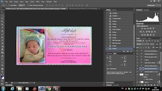 Desain tasyakuran kelahiran bayi dengan photoshop