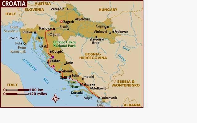 Peta Negara Kroasia