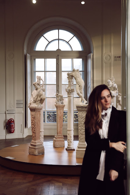 Alicia Mara in Paris France at Rodin Museum