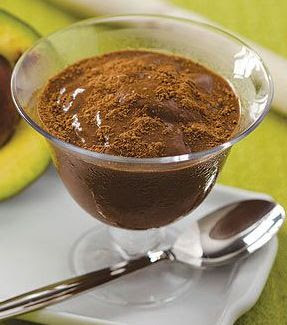 Mousse de chocolate com abacate low carb