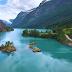 Озеро Ловатнет в Норвегии, красивейшее озеро необычного цвета